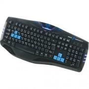 Teclado Gamer E-Blue USB Cobra Combatant X Preto/Azul