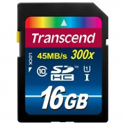 Card Transcend SDHC 16GB Class 10 UHS-I 300x