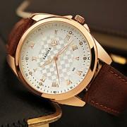Masculino Relógio de Moda / Relógio de Pulso Quartz / PU Banda Legal / Casual Preta / Marrom marca