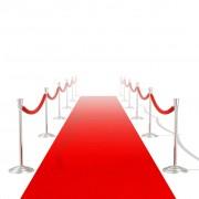 vidaXL Червен дебел килим с тежест от 400 гр/м², 1 х 10 метра