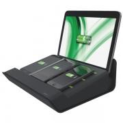 Încărcător multifuncţional Complete XL pentru 3 smartphone-uri si o tableta, negru