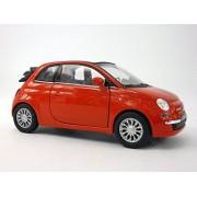 2010 Fiat 500C (Fiat 500) 1/32 Scale Diecast Metal Model - RED