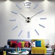 home decor quartz diy wall clock clocks horloge watch living room metal Acrylic mirror 20 inch (White color)