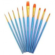 Paint Brush Set Acrylic Xpassion 10pcs Professional Paint Brushes Artist for Watercolor Oil Acrylic Painting