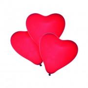 Baloane Forma Inima Rosie Set 4