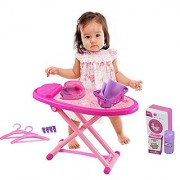Mini Washing and Ironing Set with Toy Washing Machine Iron Ironing Board and Accessories by Dimple