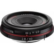 Obiectiv Foto Pentax-Ricoh 40mm f2.8 DA HD Limited Black