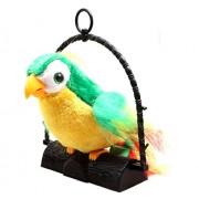 SJ 7inch Talk Talking Back Parrot Bird Kids Toy - 80