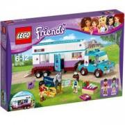 Конструктор Лего Френдс - Ветеринарна каравана за коне - LEGO Friends, 41125
