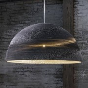 LUMZ Hanglamp met grote ronde kap van karton