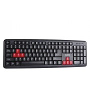 Intex Slim Corona Rb Ps2 Keyboard (Black/Red)
