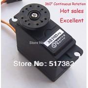Generic Control Angle 180 : 2x 360 servo 360 degree Continuous Rotation Servos DC Gear Motor Smart Car Robot 5.5kg/cm DC 4.8V-6V