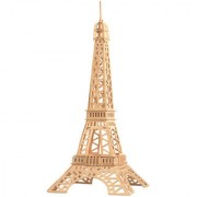 Magideal DIY 3D Wooden Jigsaw Eiffel Tower Model Construction Kit Toy Puzzle Gift