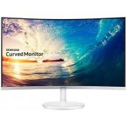 """Monitor VA LED Samsung 27"""" LC27F581FDUXEN, Full HD (1920 x 1080), VGA, HDMI, DisplayPort, Ecran Curbat, 4 ms (Alb/Argintiu)"""