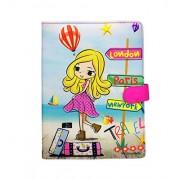 Shopaholic Travel Girl Trendy File Folder for Kids/teengers