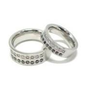 Snubní Prsteny z Oceli RSCL13-CZ-J+RSCL14-CZ-J