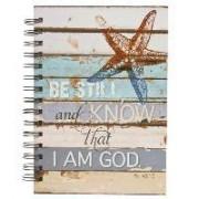 Journal Wirebound Starfish Be Still by Christian Art Gifts