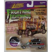 JOHNNY LIGHTNING FRIGHTNING LIGHTNING GHOSTBUSTER ECTO-1A SILVER. 1 OF ONLY 17 500 EVER MADE. DIE CAST METAL BODY AND CHASIS