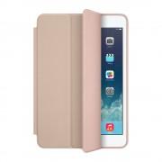 Apple Smart Case - оригинален кожен калъф и поставка за iPad mini, iPad mini 2, iPad mini 3 (бежав)