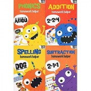 Homework Helper Educational Workbooks - First Grade - Set of 4 Books