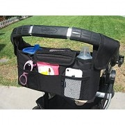 Baby Stroller Organizer Converts to Diaper Bag or Car Caddy Rip-Stop Nylon Has 2 Large Bottle Holders and Mesh Storage C