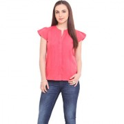 La Stella Women Pink Polyester Casual Shirt (L1616-PINK)