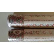 Tapet cu dungi inflorate si bordura - miniatura pentru papusi