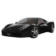 Modellino Auto FERRARI 458 ITALIA Matt Nero Scala 1:18
