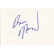 Bruce Harwood Autographed Index Card