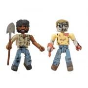 The Walking Dead Minimates Series 5: Survivor Morgan and Geek Zombie Set