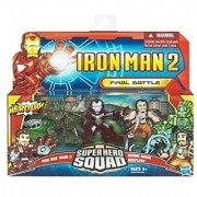 Iron Man 2 Super Hero Squad Mini Figure 3Pack Final Battle Iron Man Mark V Whiplash & Armor Drone