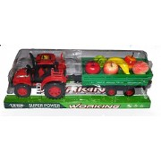 Reckonon Plastic Fruit Loaded Truck with different Tempting fruits, Best Toy for Kids