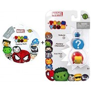 Marvel Tsum Tsum Wave 2 - Series 2 Nebula & Iron Man Mystery Character Action Figures + Marvel Tsum Tsum Series 1 Blind Bag Figure