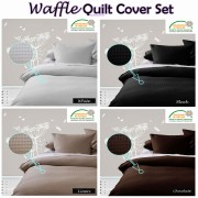 Waffle Quilt Cover Set by Kingdom