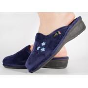 Papuci de casa bleumarin din plus dama/dame/femei (cod PANNI)