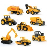 XC1355C 8 types Diecast mini alloy construction vehicle Engineering Car Dump-car Dump Truck Model Classic Toy Mini gift for boy