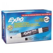 Low Odor Dry Erase Marker, Chisel Tip, Black, Dozen