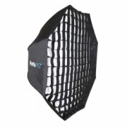 Phottix Pro Extra Large Easy-Up HD Umbrella Octa Softbox cu Grid 120cm