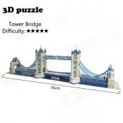 DIY 3D Tower Bridge Puzzle Jigsaw Toy - Golden + White