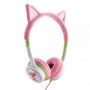 iFrogz Little Rockers Costume Kids On-Ear Headphones - слушалки подходящи за деца за мобилни устройства (розов-зелен)
