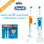 Pack de dos cepillos eléctricos Oral-B Vitality Precision Clean