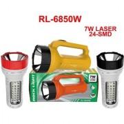 Rock Light RL-6850 7 Watt LASER Torch With 24 SMD Emergency Light