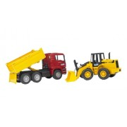 Bruder 2752 MAN TGA Construction Truck and Articulated Road Loader FR 130