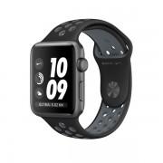 Apple Watch Nike+ con caja de aluminio gris espacial de 42 mm y correa deportiva Nike negra/gris azulado