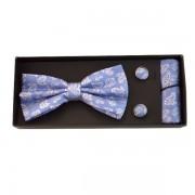 Accesorii elegante bleu cu modele albe