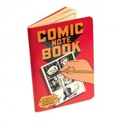 Comic Book Notebook with Speech Bubbles Stencil, cartoon, cartoonist, comic artist