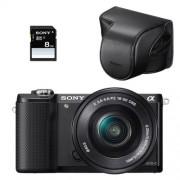 Sony A5000 hybride 20.1 mpix noir + objectif 16-50 f3.5-5.6