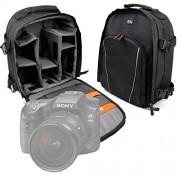 Zaino Per Sony Cyber-shot HX350 / DSC-HX90V / HX90 | A99 II | a68 | DSC-RX10M3 / RX10 III | a6300 | RX10 II, DSC-RX10M2 | a7R II, ILCE-7RM2 | a6000 | a6000L + Custodia AntiPioggia - DURAGADGET