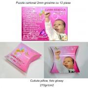 Invitatie Botez Puzzle Cartonat