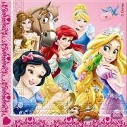 Procos 82647 - Tovaglioli Carta Disney Princess & Animals, 20 Pezzi, Rosa